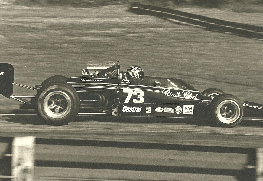 F-5000 Lola for Carling Black Label Beer & Roy Woods, run by Kastner Brophy Racing, 1973